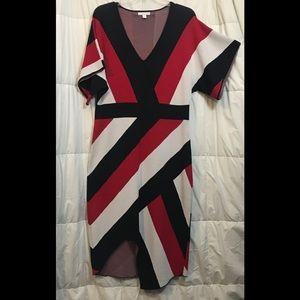 New York & Company Diagonal Patterned Dress